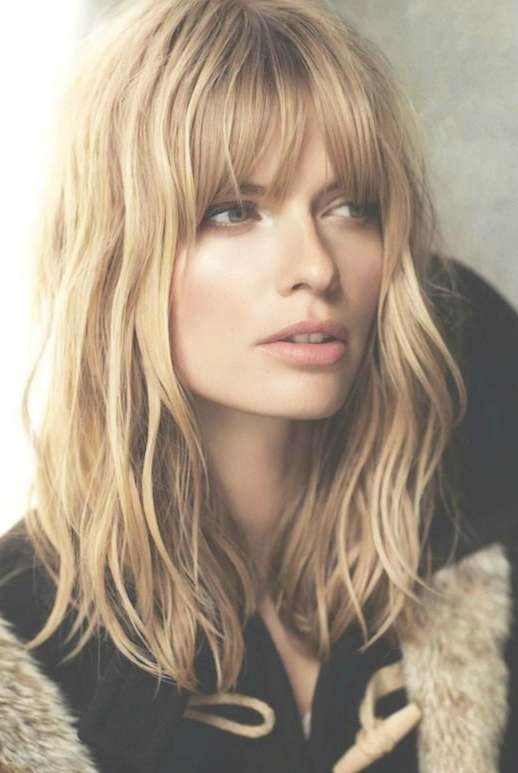 Best 25+ Bangs Medium Hair Ideas On Pinterest | Shorter Length Throughout Most Current Medium Haircuts With Full Bangs (View 10 of 25)