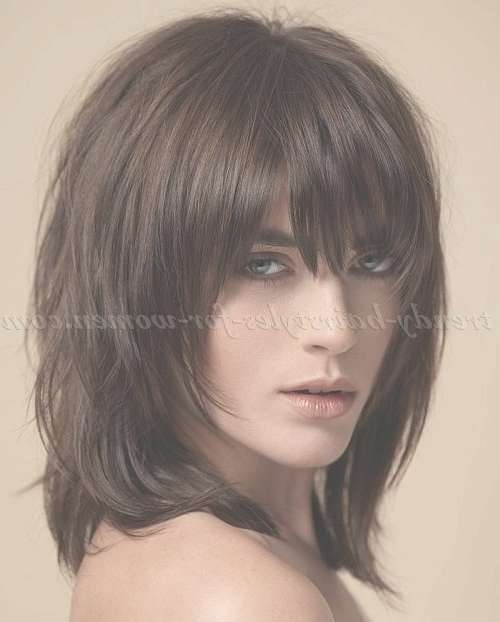 Best 25+ Bangs Medium Hair Ideas On Pinterest | Shorter Length Within Most Recent Medium Haircuts With Fringe Bangs (View 22 of 25)