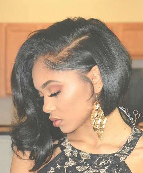 Best 25+ Black Girl Prom Hairstyles Ideas On Pinterest   Weave Bob With Regard To Latest Cute Medium Hairstyles For Black Women (View 22 of 25)