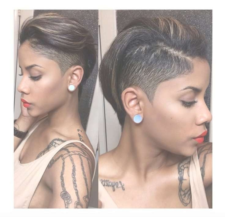 Best 25+ Black Hair Mohawk Ideas On Pinterest | Natural Black Hair Regarding Best And Newest Edgy Medium Haircuts For Black Women (View 16 of 25)