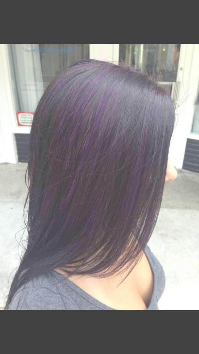 Best 25+ Black Hair Purple Highlights Ideas On Pinterest | Brown Intended For Most Popular Purple And Black Medium Hairstyles (View 13 of 15)