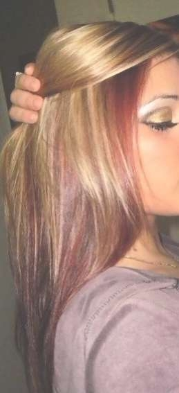 Best 25+ Blonde Hair With Red Highlights Ideas On Pinterest In Best And Newest Medium Haircuts With Red And Blonde Highlights (View 14 of 25)