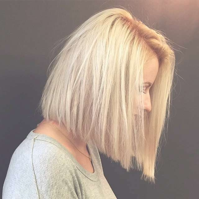 Best 25+ Blunt Bob Haircuts Ideas On Pinterest | Blunt Bob 2016 With Regard To Most Popular Blunt Cut Medium Hairstyles (View 11 of 25)