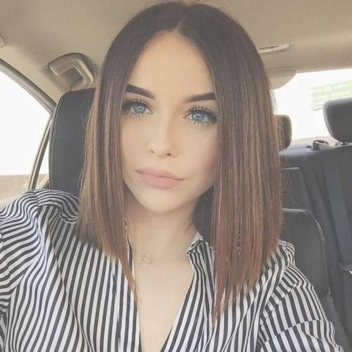 Best 25+ Blunt Haircut Ideas On Pinterest | Lob Haircut, Blonde With Most Current Blunt Cut Medium Hairstyles (View 18 of 25)