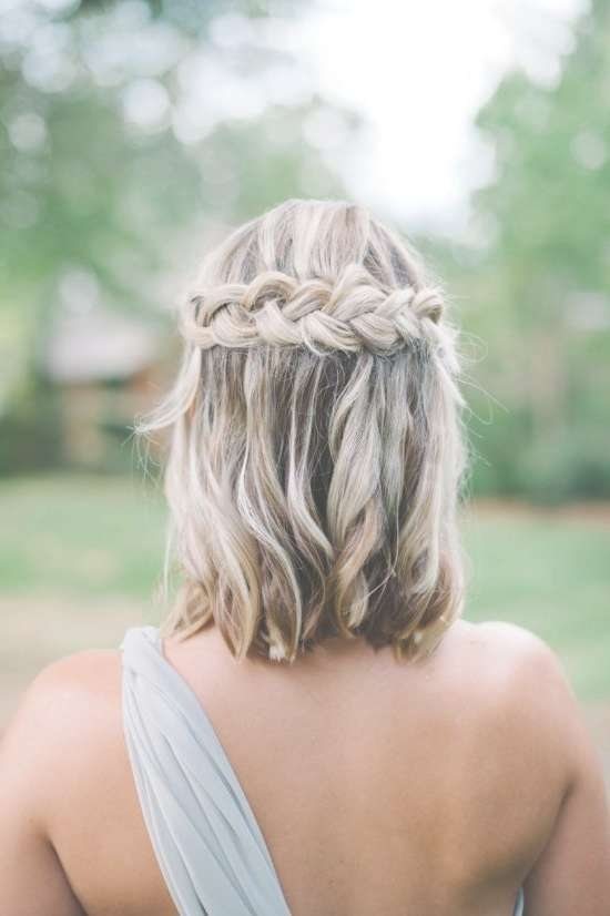 Best 25+ Bridesmaid Braided Hairstyles Ideas On Pinterest In Current Medium Hairstyles For Weddings For Bridesmaids (View 3 of 15)