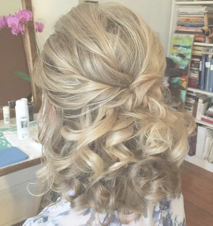 Best 25+ Bridesmaid Hair Medium Length Half Up Ideas On Pinterest Regarding Most Recent Half Long Half Medium Hairstyles (View 4 of 15)
