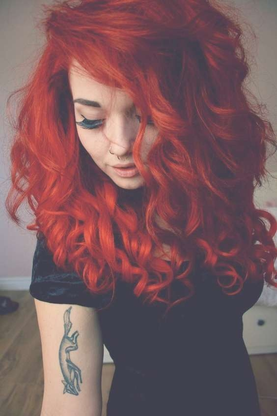 Best 25+ Bright Red Hair Ideas On Pinterest | Bright Red For Most Up To Date Bright Red Medium Hairstyles (View 4 of 15)