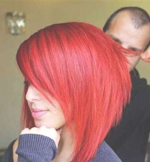 Best 25+ Bright Red Hairstyles Ideas On Pinterest | Beautiful Red With Regard To 2018 Bright Red Medium Hairstyles (View 6 of 15)