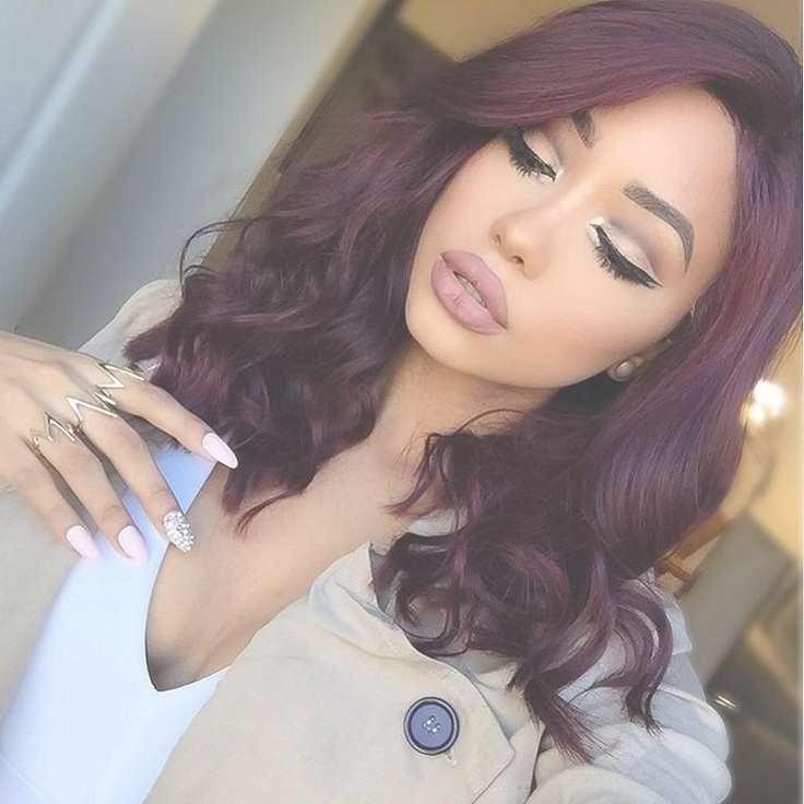 Best 25+ Burgundy Hair Ideas On Pinterest | Maroon Hair, Burgundy Regarding 2018 Burgundy Medium Hairstyles (View 10 of 15)