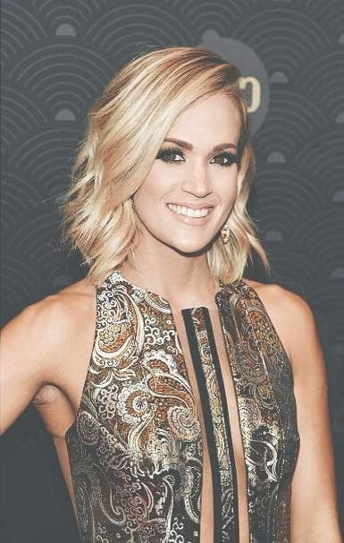 Best 25+ Carrie Underwood Haircut Ideas On Pinterest | Shoulder Intended For Carrie Underwood Bob Haircuts (View 4 of 25)
