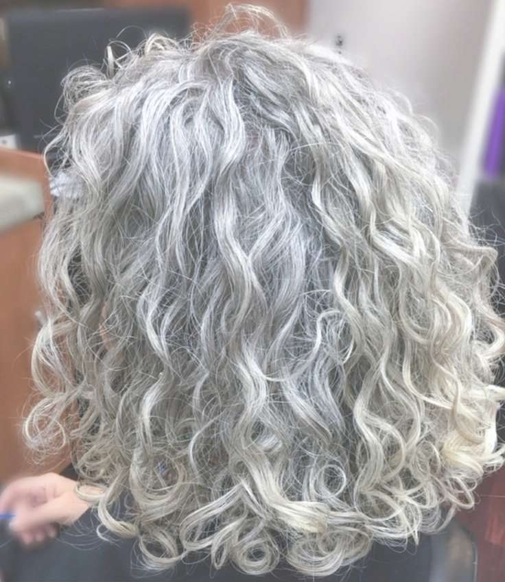 Best 25+ Curly Gray Hair Ideas On Pinterest | Why Grey Hair Is Inside 2018 Medium Haircuts For Salt And Pepper Hair (View 23 of 25)