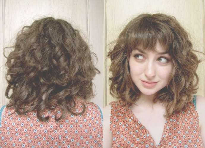 Best 25+ Curly Hair With Bangs Ideas On Pinterest | Curly Hair Within Newest Curly Medium Hairstyles With Bangs (View 11 of 25)