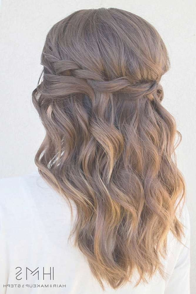 Best 25+ Curly Hairstyles For Prom Ideas On Pinterest | Curly With Newest Medium Hairstyles For Dances (View 9 of 25)