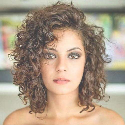 Best 25+ Curly Medium Hairstyles Ideas On Pinterest | Short Curly Within Current Medium Hairstyles For Very Curly Hair (View 10 of 15)