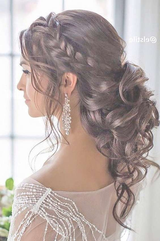 Best 25+ Curly Wedding Hairstyles Ideas On Pinterest | Curly Hair Within Most Recently Long Hairstyle For Wedding (View 6 of 25)