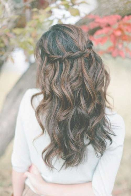 Best 25+ Down Curly Hairstyles Ideas On Pinterest | Curly For Most Popular Half Long Half Medium Hairstyles (View 5 of 15)