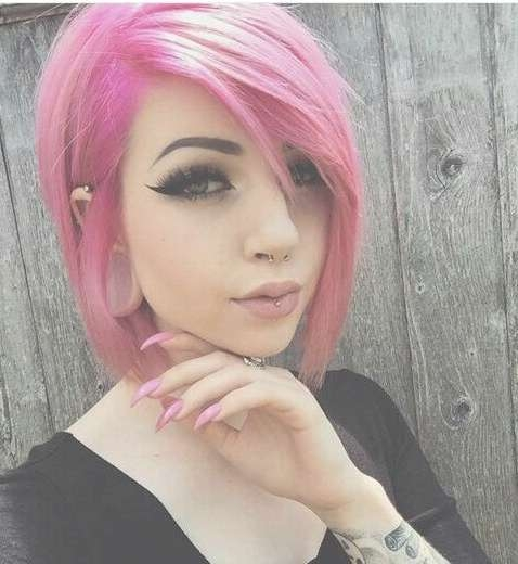 Best 25+ Dusty Pink Hair Ideas On Pinterest | Rose Hair Color Within Newest Pink Medium Haircuts (View 18 of 25)