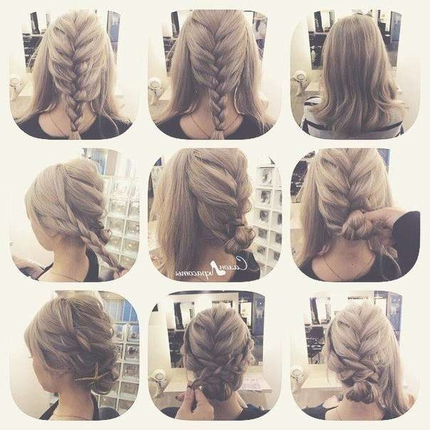 Best 25+ Easy Braided Updo Ideas On Pinterest | Easy Updo With Most Popular Medium Hairstyles For Work (View 3 of 15)