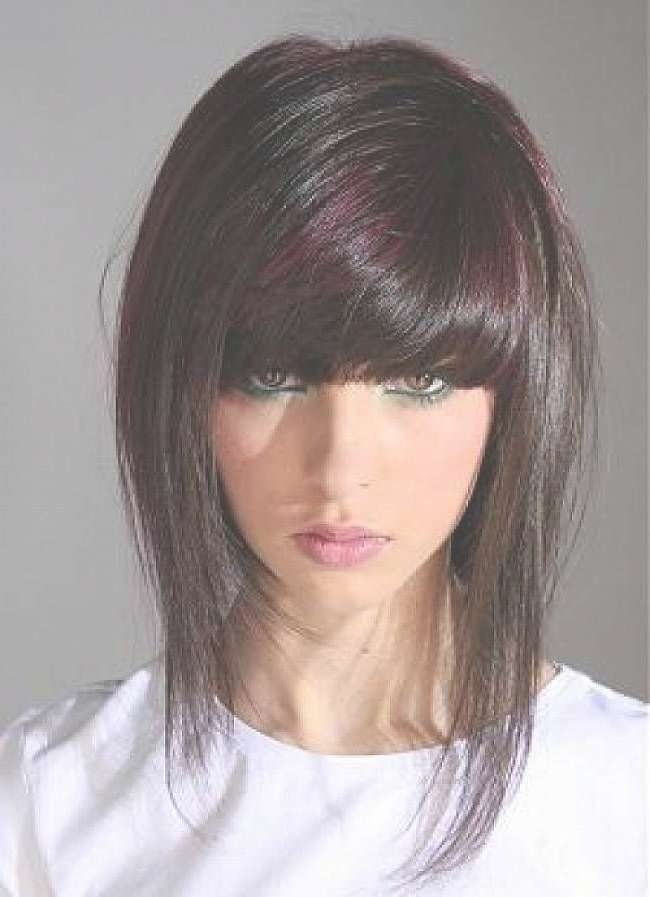 Best 25+ Edgy Medium Hairstyles Ideas On Pinterest   One Length Pertaining To Newest Edgy Medium Haircuts For Round Faces (View 17 of 25)