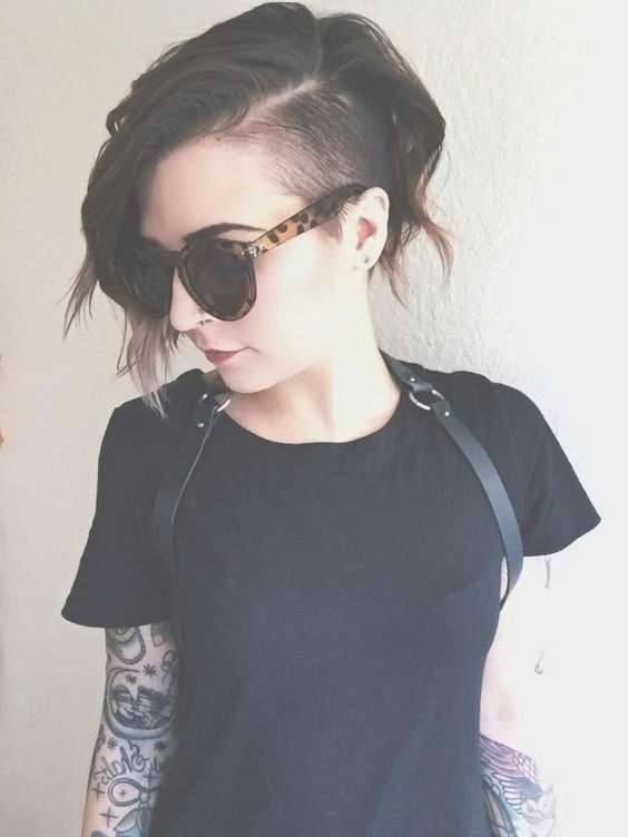 Best 25+ Girls Shaved Hairstyles Ideas On Pinterest | Undercut With Regard To Most Recently Medium Haircuts With One Side Shaved (View 5 of 25)
