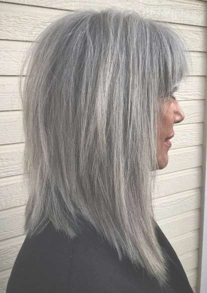 Best 25+ Gray Hairstyles Ideas On Pinterest | Grey Hair Short Bob Throughout Best And Newest Medium Haircuts For Salt And Pepper Hair (View 7 of 25)