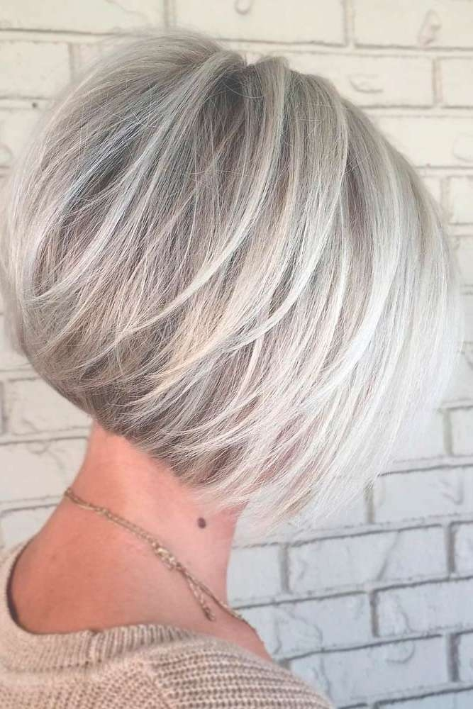 Best 25+ Gray Hairstyles Ideas On Pinterest | Grey Hair Short Bob Throughout Newest Medium Haircuts For Gray Hair (View 9 of 25)