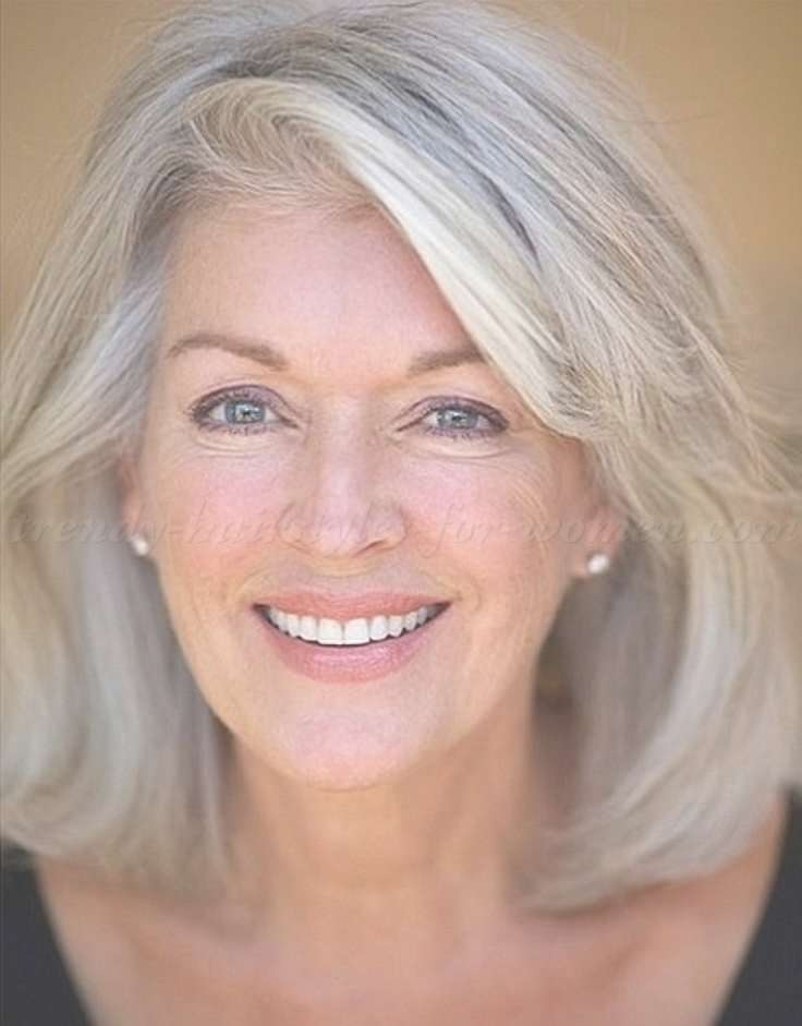Best 25+ Gray Hairstyles Ideas On Pinterest | Grey Hair Short Bob With Regard To Latest Medium Haircuts For Gray Hair (View 2 of 25)