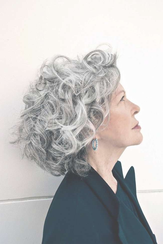 Best 25+ Grey Curly Hair Ideas On Pinterest | Why Grey Hair Is Within Most Current Medium Haircuts For Gray Hair (View 23 of 25)