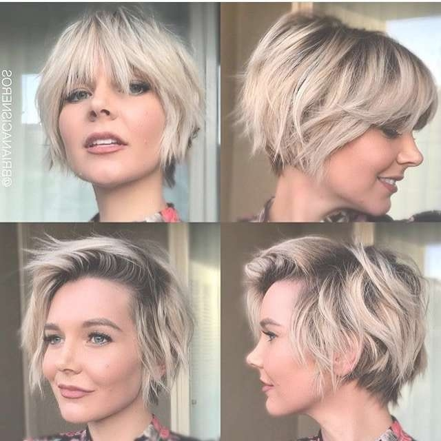 Showing Photos Of Medium Hairstyles For Growing Out A Pixie Cut