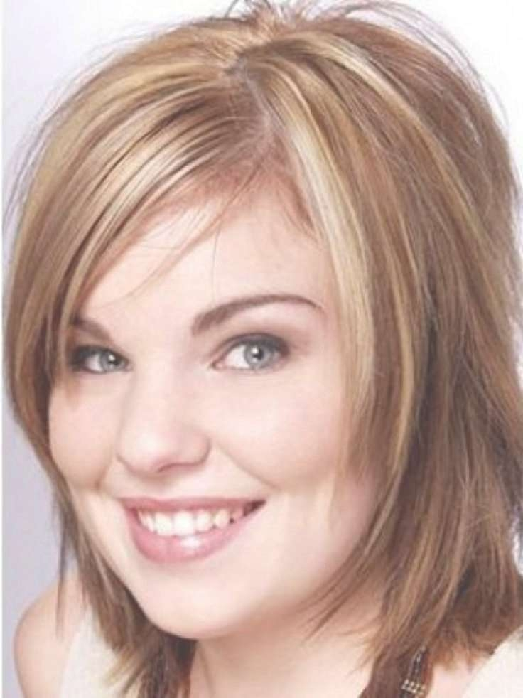 Best 25+ Haircuts For Fat Faces Ideas On Pinterest | Fat Face For Recent Medium Hairstyles For Round Faces And Fine Hair (View 5 of 25)