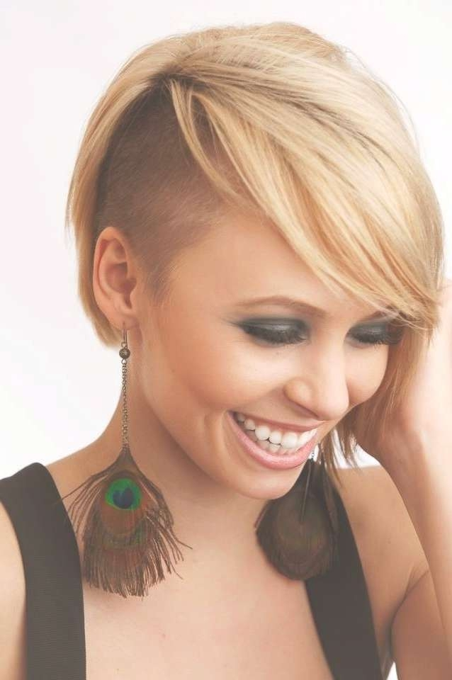 Displaying Photos Of Medium Haircuts With One Side Shaved View 12
