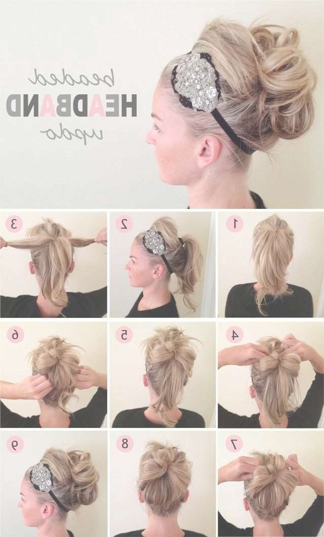 Best 25+ Headband Updo Ideas On Pinterest | Headband Tuck Intended For Best And Newest Medium Hairstyles With Headband (View 13 of 15)