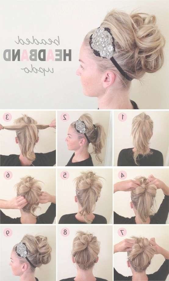 Best 25+ Headband Updo Ideas On Pinterest | Headband Tuck Pertaining To Newest Cute Medium Hairstyles With Headbands (View 8 of 15)