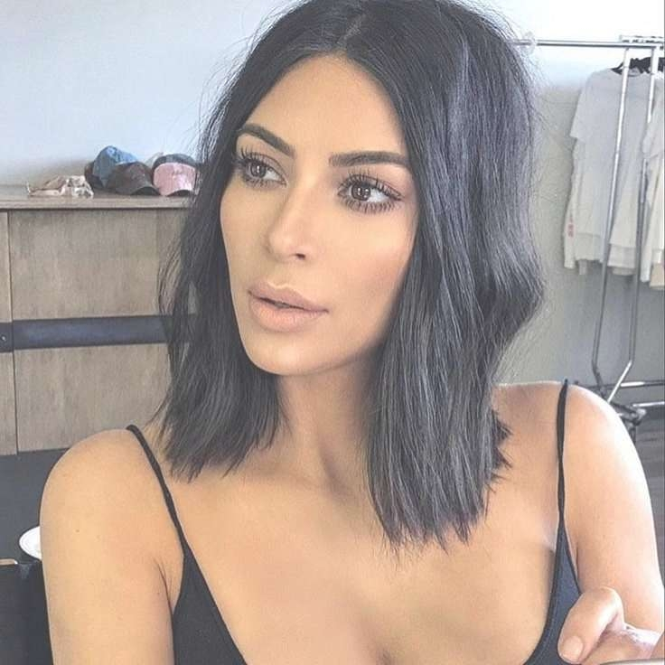 Gallery Of Kim Kardashian Medium Haircuts View 16 Of 25 Photos