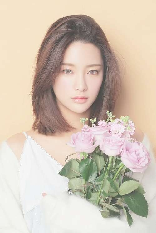 Best 25+ Korean Hairstyle Short Shoulder Length Ideas On Pinterest With Best And Newest Medium Hairstyles For Asian Round Face (View 13 of 15)