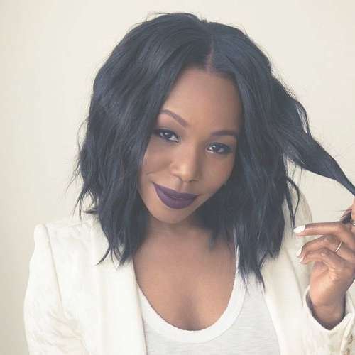 Best 25+ Layered Bob Hairstyles For Black Women Ideas On Pinterest In Most Current Medium Haircuts For Black Women With Round Faces (View 25 of 25)