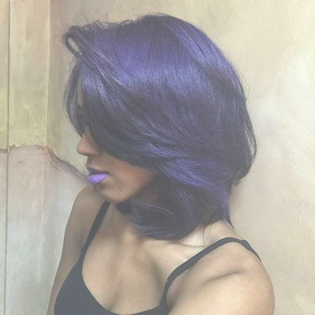 Best 25+ Layered Bob Hairstyles For Black Women Ideas On Pinterest Intended For Best And Newest Purple And Black Medium Hairstyles (View 6 of 15)