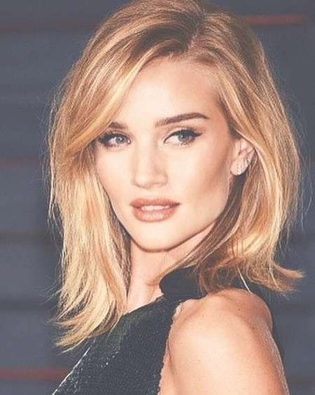Best 25+ Lob Bangs Ideas On Pinterest | Lob With Bangs, Short Hair In Latest Medium Haircuts For Celebrities (View 14 of 25)