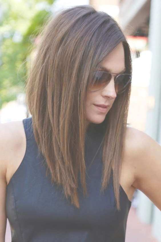Best 25+ Lob Haircut Thick Hair Ideas On Pinterest | Medium Hair Pertaining To 2018 Medium Hairstyles For Long Face And Fine Hair (View 4 of 15)