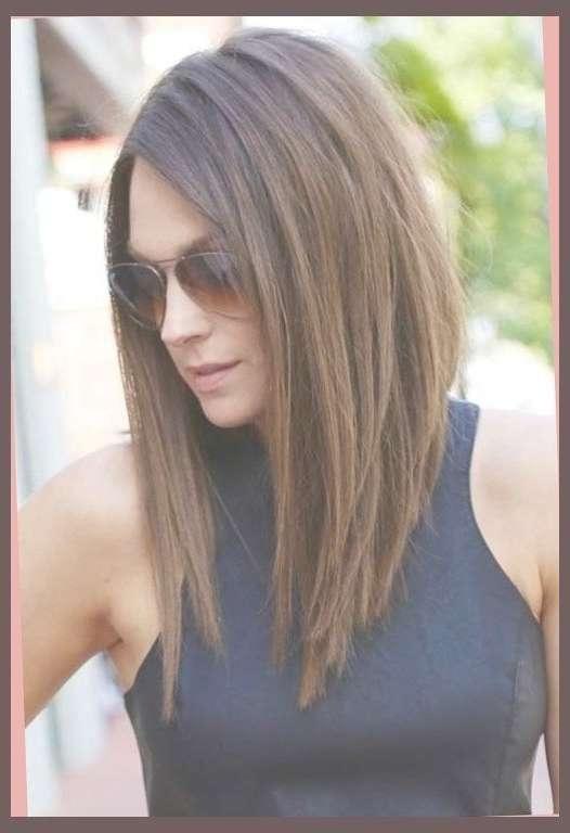 Best 25+ Long Angled Haircut Ideas On Pinterest | Long Angled Bob Regarding Recent Inverted Medium Haircuts (View 20 of 25)