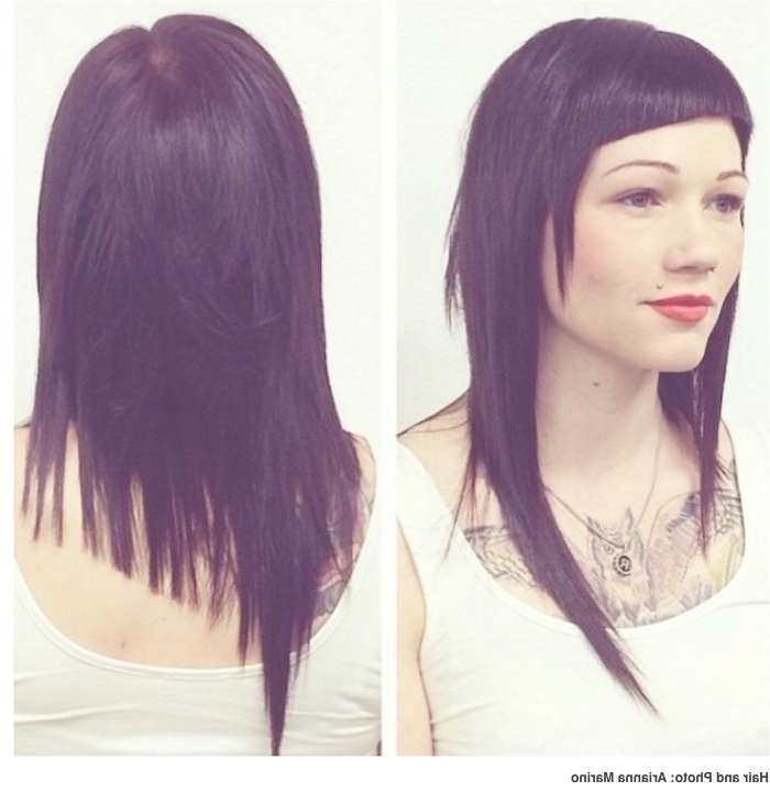 Best 25+ Long Asymmetrical Hairstyles Ideas On Pinterest | Long Regarding Most Popular Medium Haircuts With One Side Longer Than The Other (View 21 of 25)