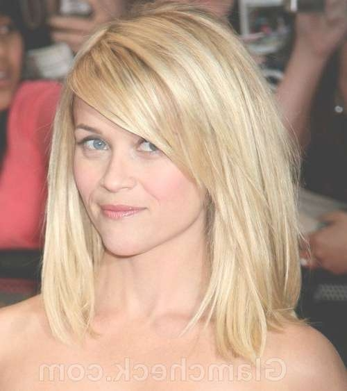 Best 25+ Long Bob Bangs Ideas On Pinterest | Bangs Medium Hair Throughout Most Recently Medium Hairstyles With Long Side Bangs (View 5 of 25)