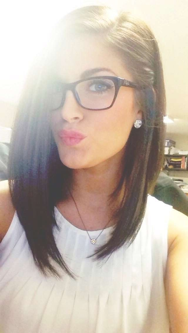 Showing Photos Of Medium Haircuts For Girls With Glasses View 8 Of