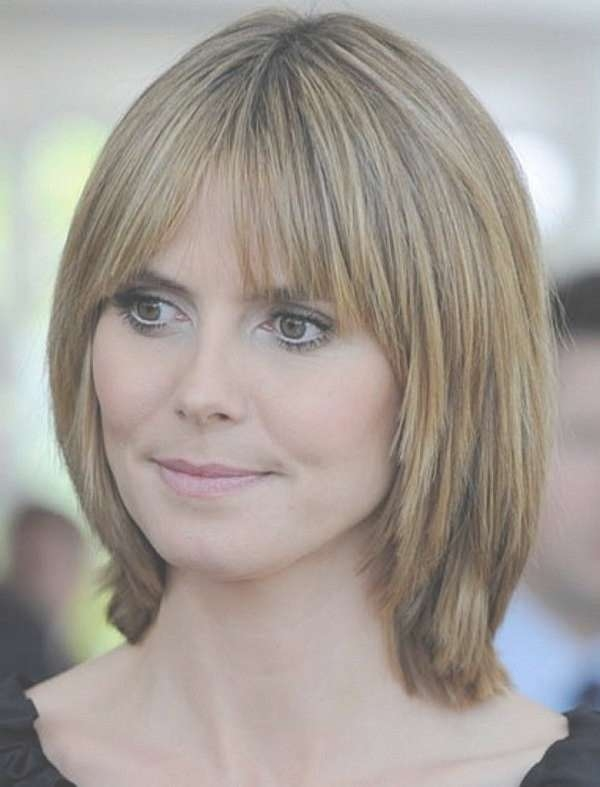 Best 25+ Long Bob With Bangs Ideas On Pinterest | Long Bob Haircut For Latest Medium Haircuts With Bangs For Fine Hair (View 5 of 25)