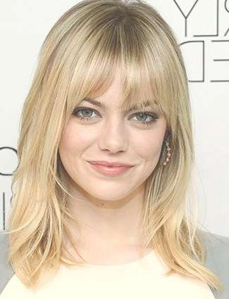 Best 25+ Long Bob With Fringe Ideas On Pinterest | Long Bob Fringe Inside Current Medium Haircuts With Full Bangs (View 18 of 25)