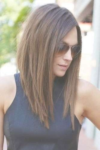 Best 25+ Long Bob With Fringe Ideas On Pinterest | Long Bob Fringe Throughout Newest Medium Hairstyles With Long Bangs (View 13 of 25)