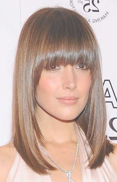 Best 25+ Long Bob With Fringe Ideas On Pinterest | Long Bob Fringe With Regard To Best And Newest Medium Hairstyles With Straight Bangs (View 6 of 25)