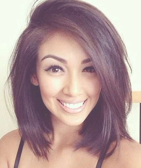Best 25+ Long Face Haircuts Ideas On Pinterest | Haircut For Long In Recent Long Face Medium Hairstyles (View 3 of 25)