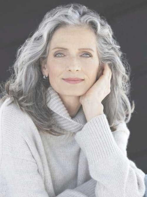 Best 25+ Long Gray Hair Ideas On Pinterest   Can Grey Hair Go Inside Most Recent Medium Haircuts For Grey Haired Woman (View 12 of 25)