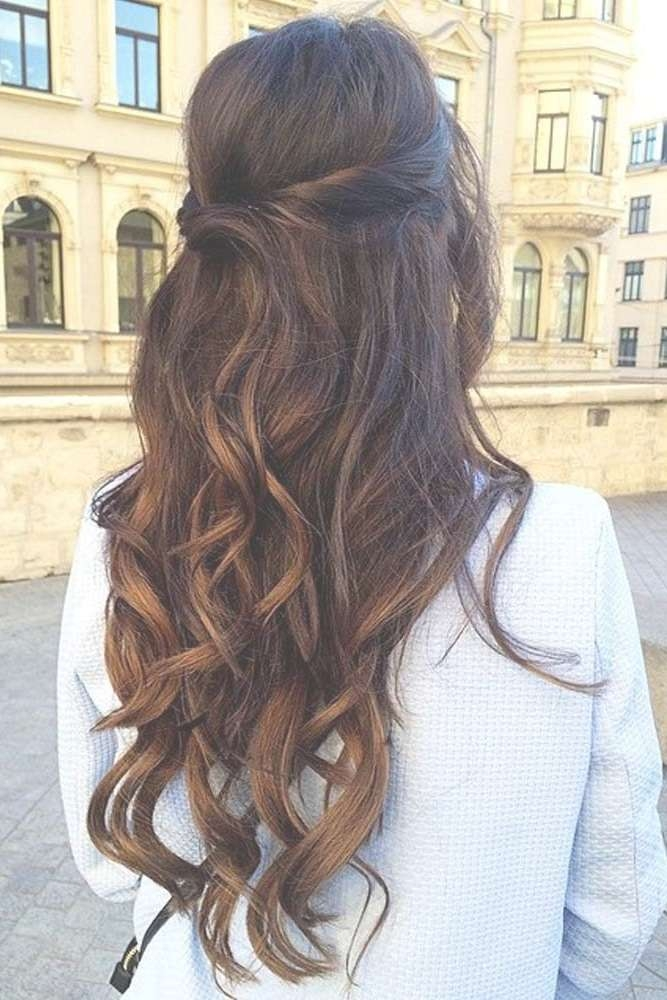 Best 25+ Long Prom Hair Ideas On Pinterest   Prom Hairstyles For For Most Up To Date Long Ball Hairstyles (View 16 of 25)
